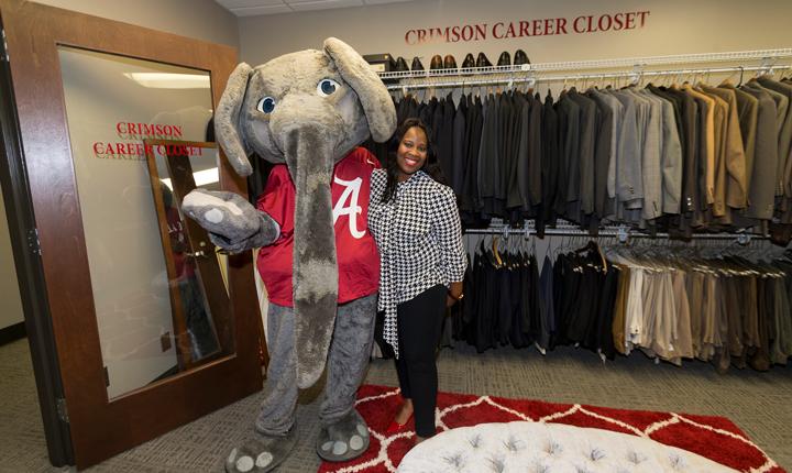 Crimson Career Closet - Student with Big Al