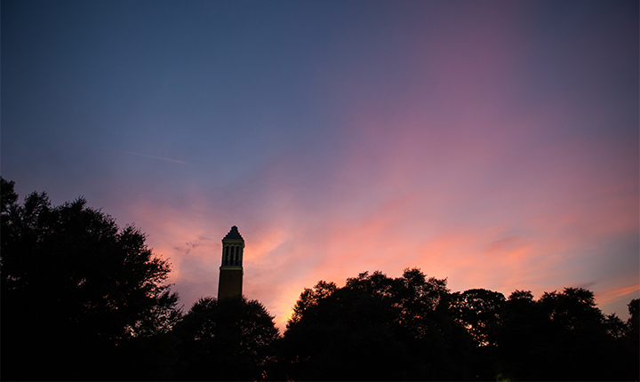 Denny Chimes at Sunset
