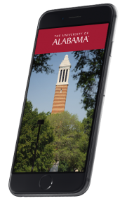 Phone using the Career Fair Plus app