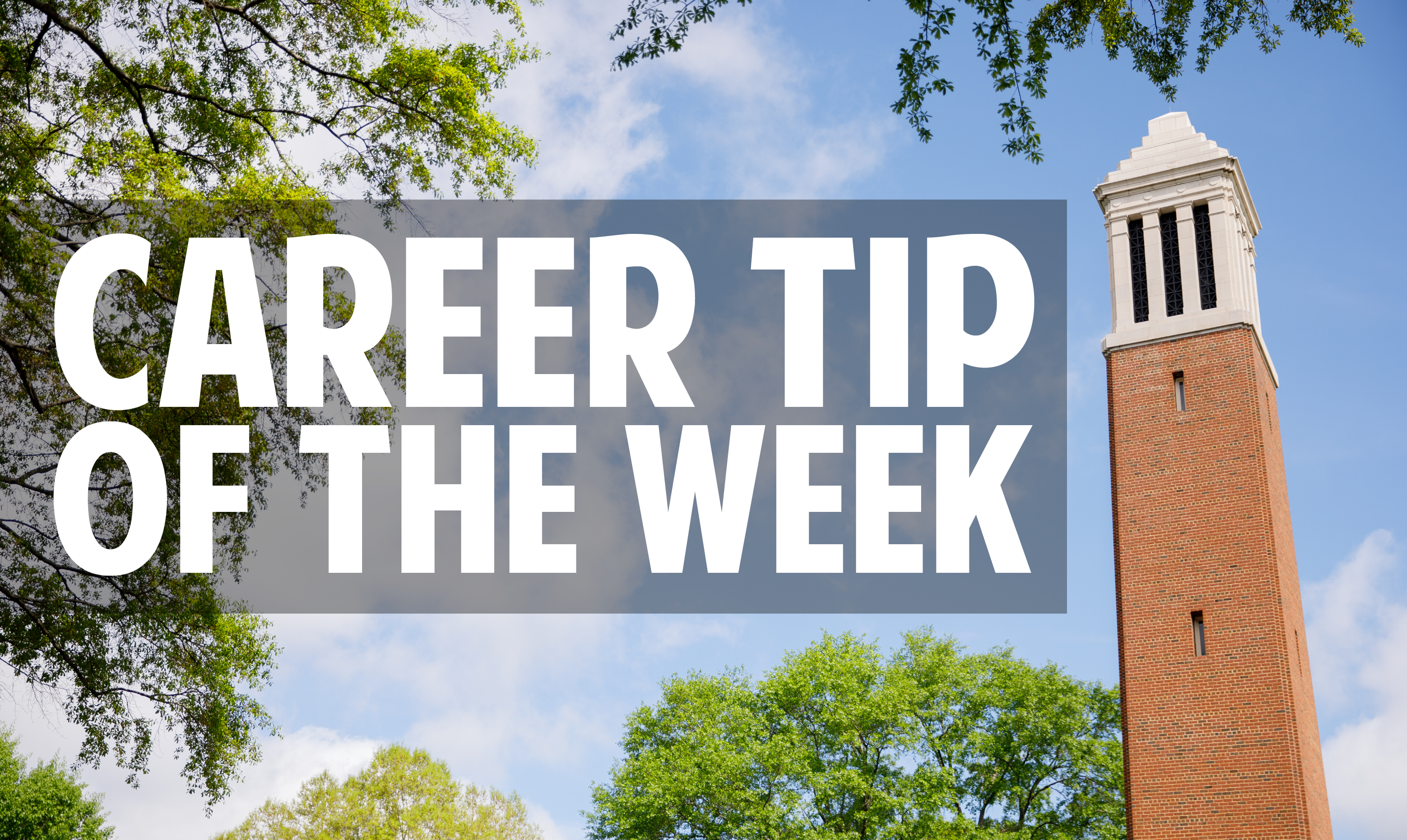 Career Tip of The Week